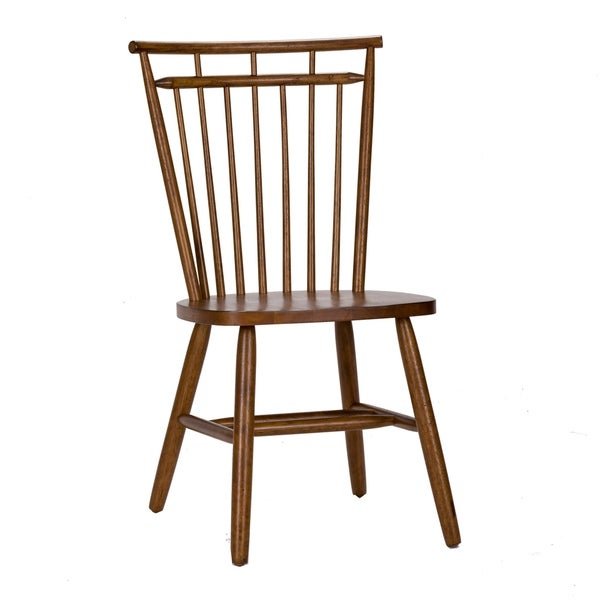 The Gray Barn Tobacco Spindle Back Dining Chair (Set of 2)
