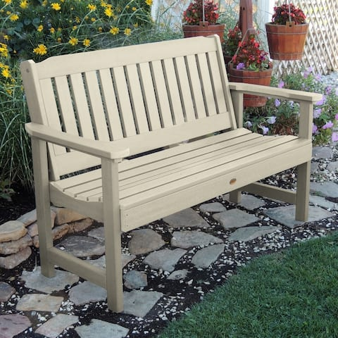 Mandalay 4-foot Eco-friendly Synthetic Wood Garden Bench by Havenside Home