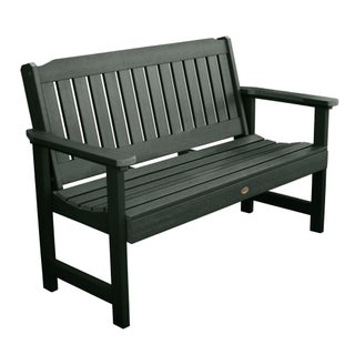 Highwood Lehigh 4-foot Eco-friendly Synthetic Wood Garden Bench (2 options available)