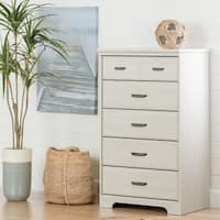 South Shore Versa Pewter Wood Metal 5-drawer Chest