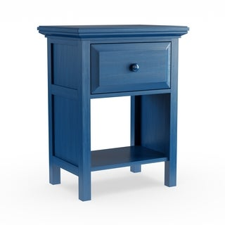 Mantua Cottage Style Nightstand, Wedgewood Blue