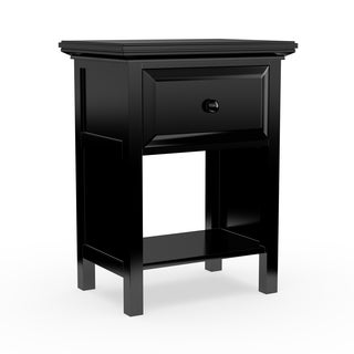 Porch & Den Baldwin Fairlane Ebony Wood Nightstand