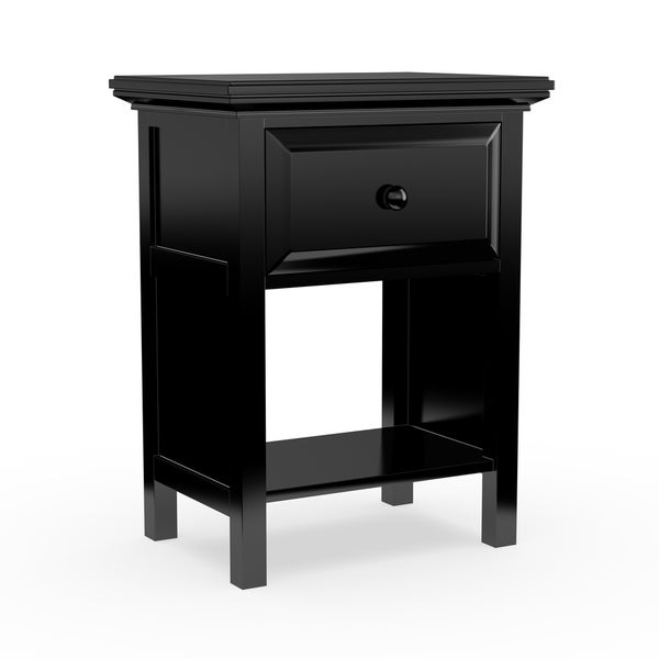 Copper Grove Nigella Ebony Wood Nightstand
