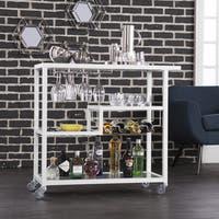 Carbon Loft Glenn White Metal Bar Cart