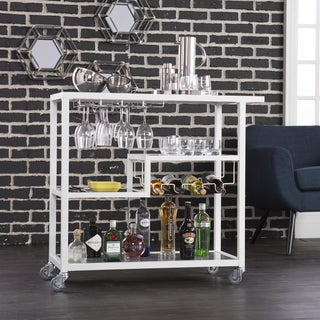 Carbon Loft Glenn White Metal Bar Cart - N/A