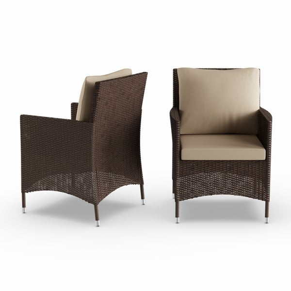 Leahlyn Reddish Brown Arm Chair Set Of 2: Shop Havenside Home Stillwater Brown Indoor/Outdoor Arm