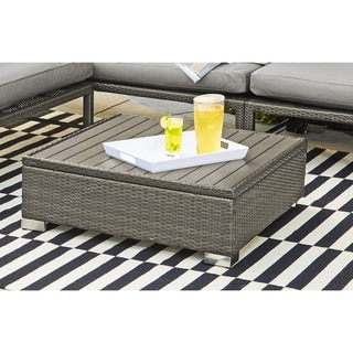 Havenside Home Stillwater Grey Indoor/Outdoor Rattan Cocktail Table