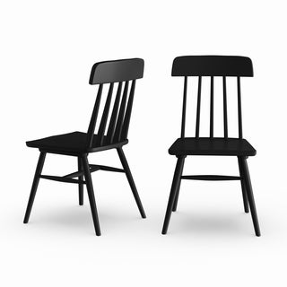 Copper Grove Spicata Black Wood Armless Dining Chairs (Set of 2)