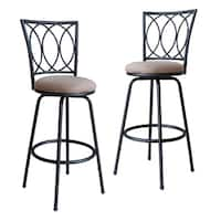 Porch & Den Folsom Adjustable Metal Bar Stool (Set of 2)