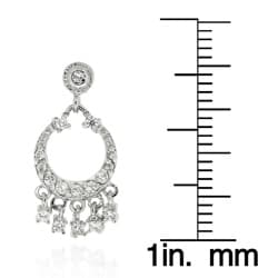 Icz Stonez Sterling Silver CZ Mini Chandelier Earrings - Thumbnail 2