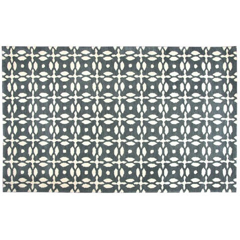 """Rizzy Home Opus Hand-Tufted 2'6"""" x 10' Runner Rug, Grey"""