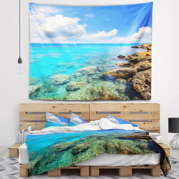 Designart 'Bright Summer Day in Sea' Seascape Wall Tapestry
