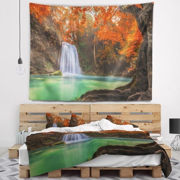 Designart 'Erawan Waterfall' Photography Wall Tapestry