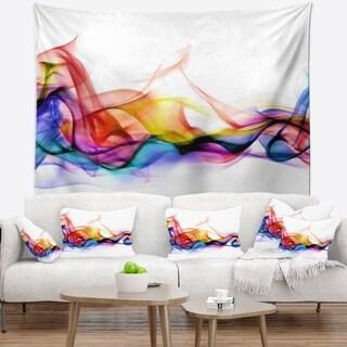 Designart 'Abstract Smoke' Contemporary Wall Tapestry