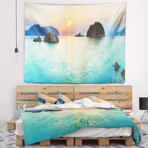Designart 'Sunrise Panorama' Photography Wall Tapestry