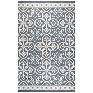 "Rizzy Home Opulent Hand-Tufted 2'6"" x 8' Runner Rug, Blue/Gray"