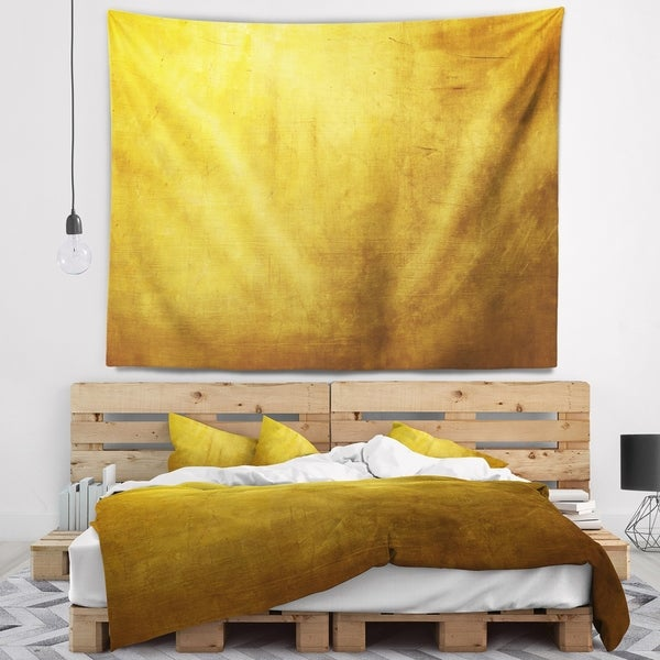 Designart 'Gold Texture' Abstract Wall Tapestry