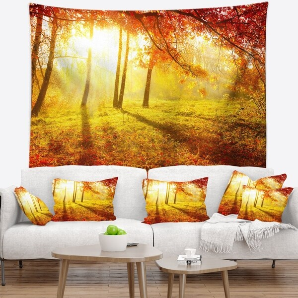 Designart 'Autumnal Park' Landscape Photography Wall Tapestry
