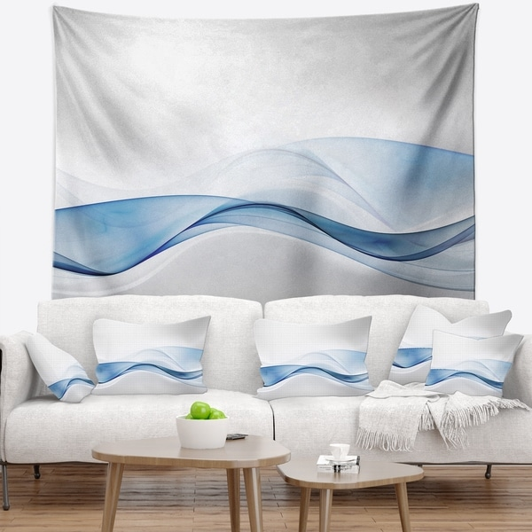 Designart '3D Wave of Water Splash' Abstract Wall Tapestry
