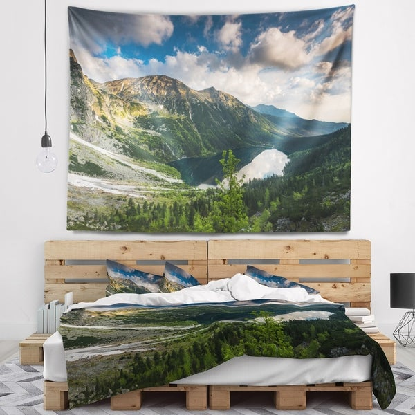 Designart 'Summer at Polish Tatra Mountains' Landscape Wall Tapestry