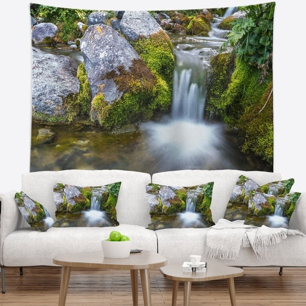 Designart 'Summer Water Stream' Landscape Photography Wall Tapestry