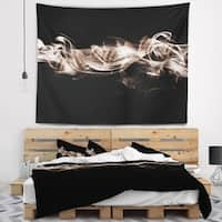 Designart 'Fractal White Smoke' Contemporary Wall Tapestry