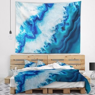 Designart 'Geode Slice Macro' Abstract Wall Tapestry