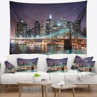 Designart 'New York City Manhattan Skyscrapers' Cityscape Wall Tapestry