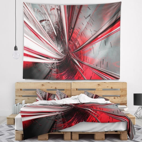 Designart 'Fractal 3D Deep into Middle' Contemporary Wall Tapestry