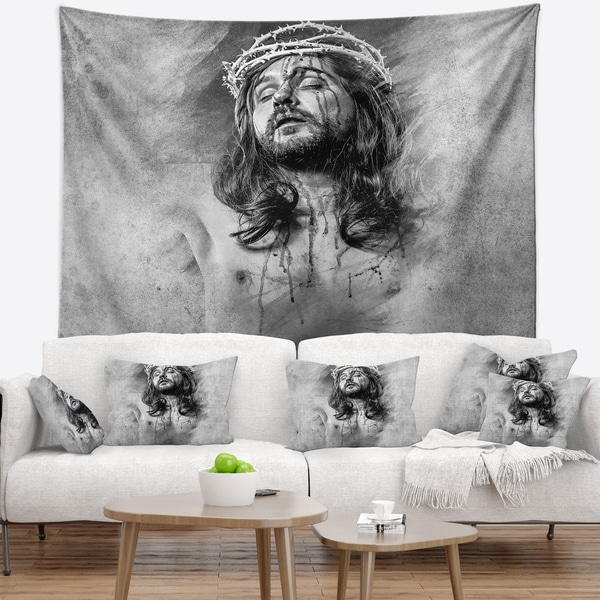 Abstract Jesus Table Art