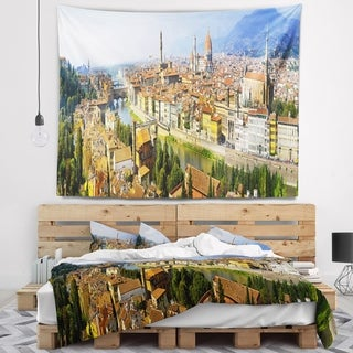 Designart 'Florence Panoramic View' Cityscape Photo Wall Tapestry