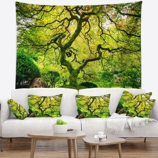 Designart 'Amazing Green Tree' Photography Wall Tapestry