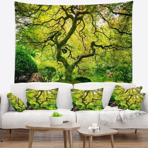 Designart 'Amazing Green Tree' Photography Wall Tapestry