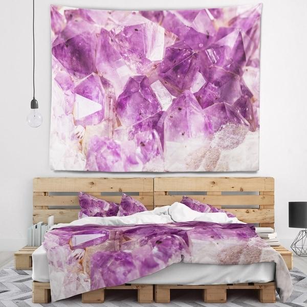 Designart 'Purple Amethyst Macro' Abstract Wall Tapestry
