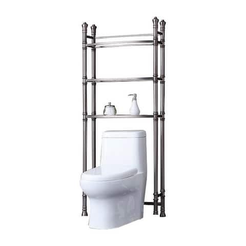 Offex Monaco Bath Etagere - Brushed Titanium