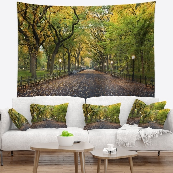 Designart 'The Mall Area in Central Park' Landscape Wall Tapestry