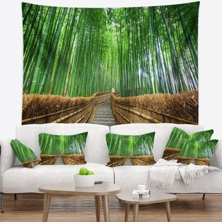 Designart 'Path to Bamboo Forest' Landscape Photography Wall Tapestry