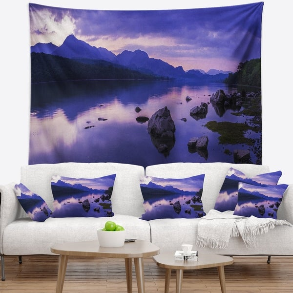 Designart 'Coniston Water in the Lake District' Landscape Wall Tapestry
