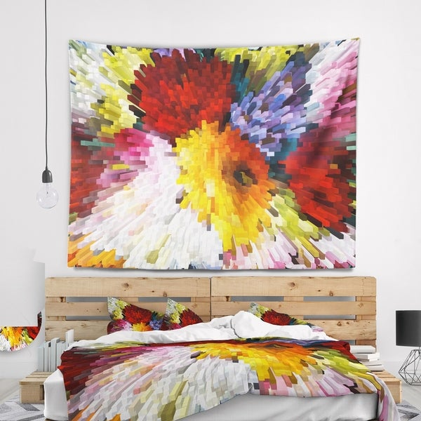 Designart 'Extrusive 3D Fabric Flowers' Floral Wall Tapestry