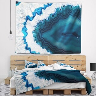Designart 'Blue Brazilian Geode' Abstract Wall Tapestry