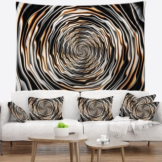 Designart 'Fractal Rotating Abstract Design' Abstract Wall Tapestry