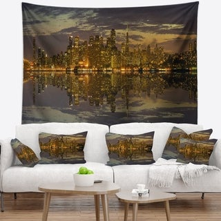 Designart 'San Francisco at Sunset Panorama' Cityscape Wall Tapestry