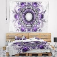 Designart 'Purple Fractal Pattern with Circles' Abstract Wall Tapestry