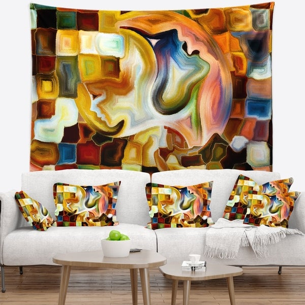 Designart 'Way of Inner Paint' Abstract Wall Tapestry