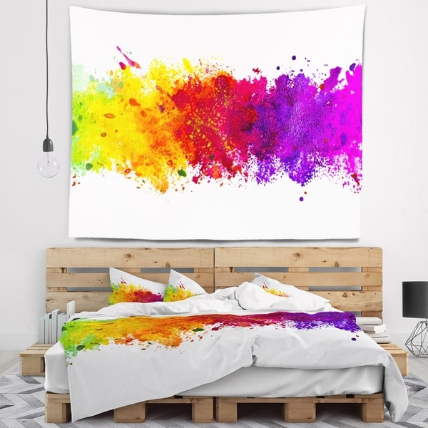 Designart 'Artistic Watercolor Splash' Abstract Wall Tapestry