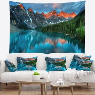 Designart 'Moraine Lake Sunrise' Landscape Photography Wall Tapestry
