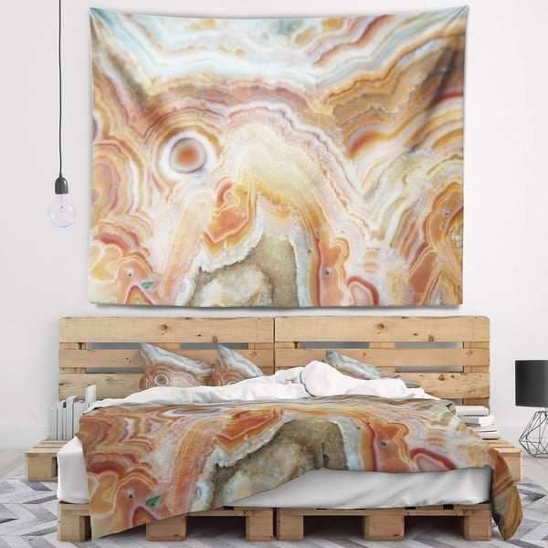 Designart 'Strips and Ovals on Agate' Abstract Wall Tapestry