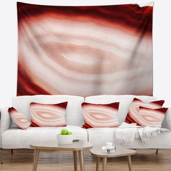 Designart 'Agate with Chalcedony Geological Crystal' Abstract Wall Tapestry