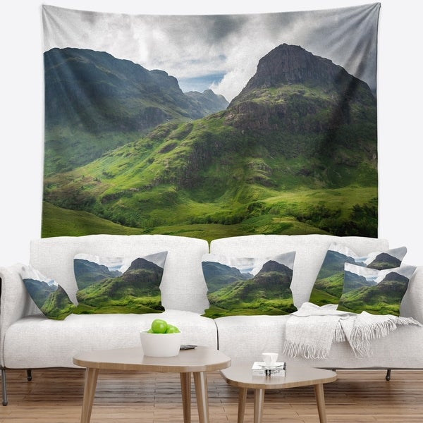 Designart 'Summer in Scotland' Landscape Photography Wall Tapestry