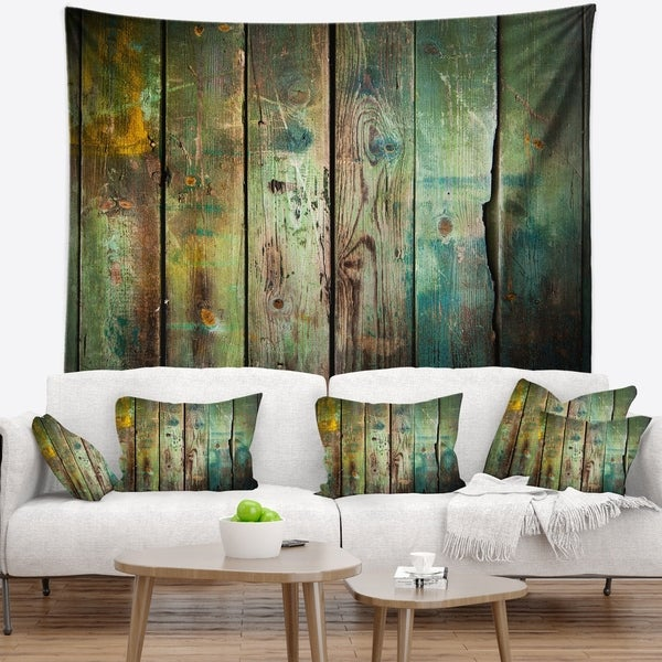 Designart 'Old Wood Pattern' Contemporary Wall Tapestry
